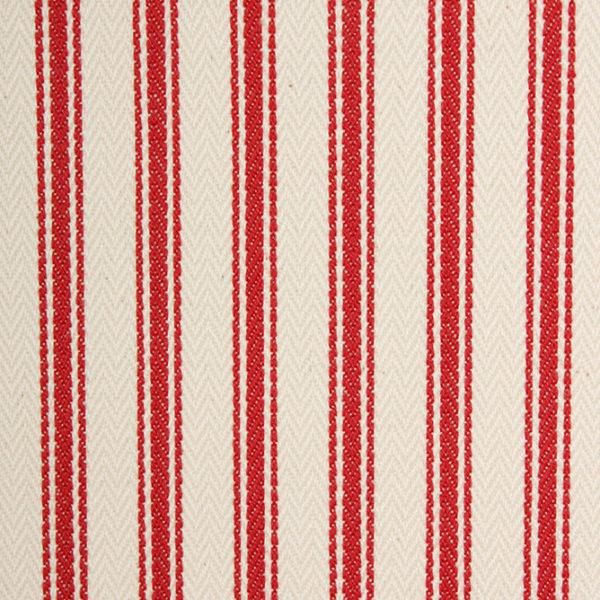 Ticking Stripe - Red
