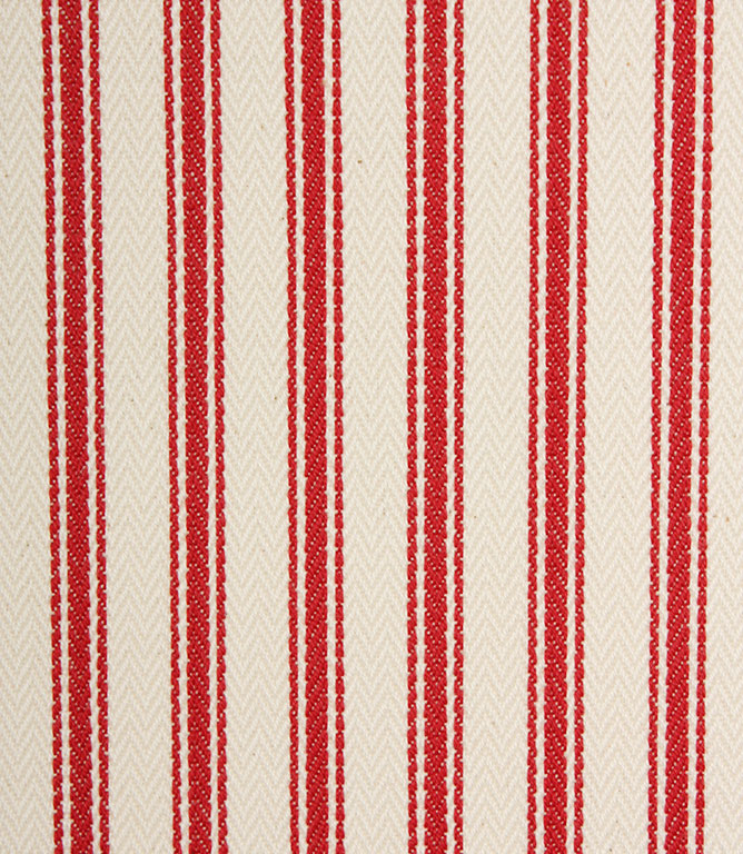 Ticking Stripe - Red