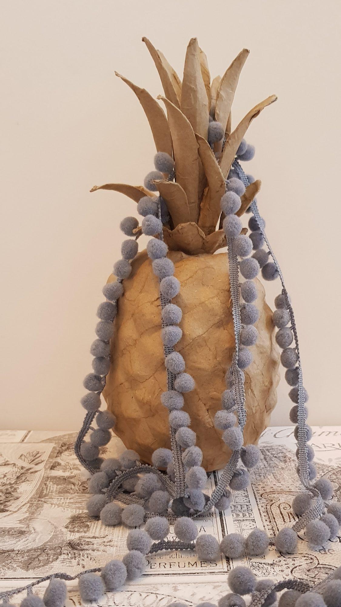 Mini Bobble Trim - Grey