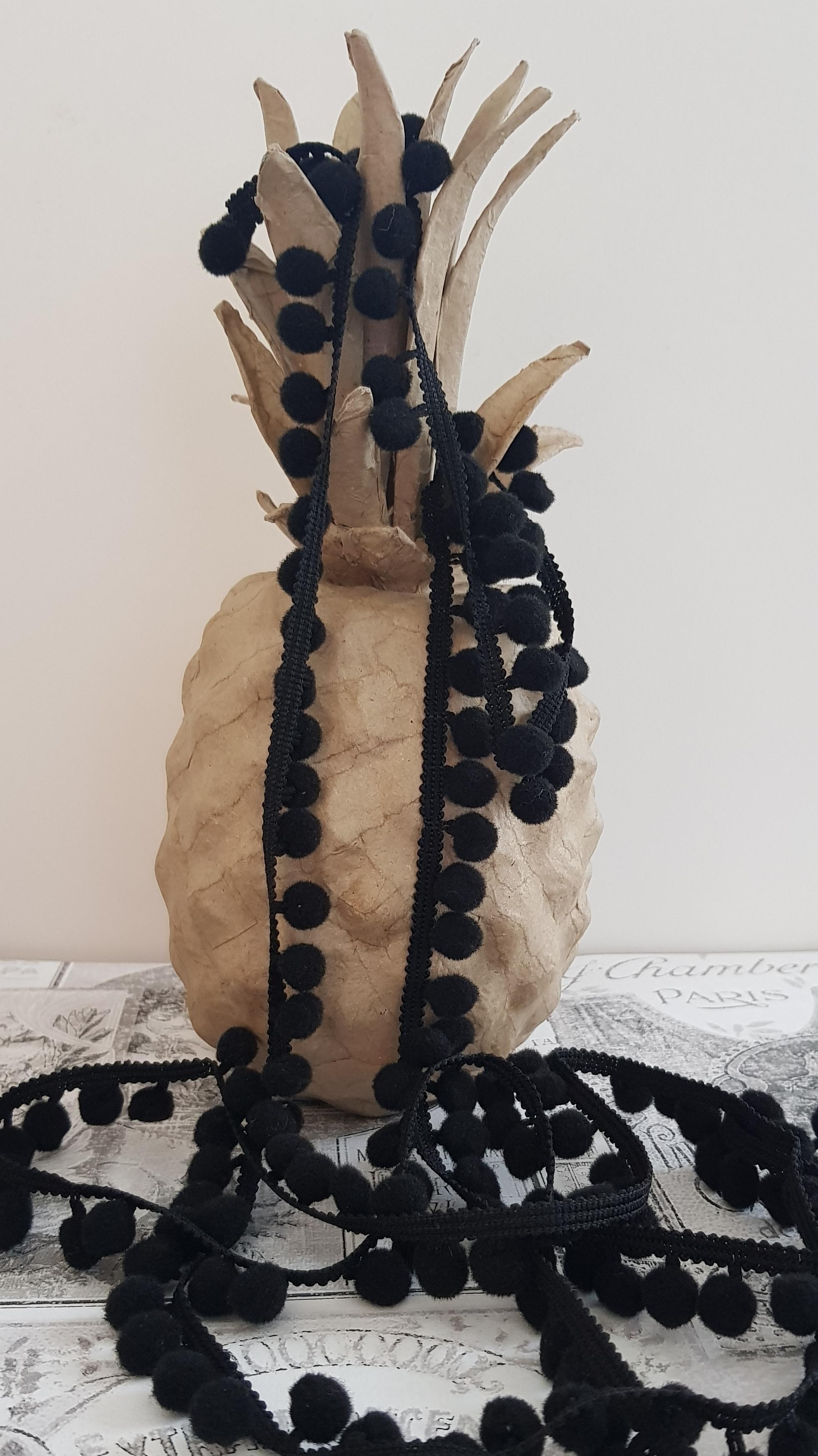 Mini Bobble Trim - Black