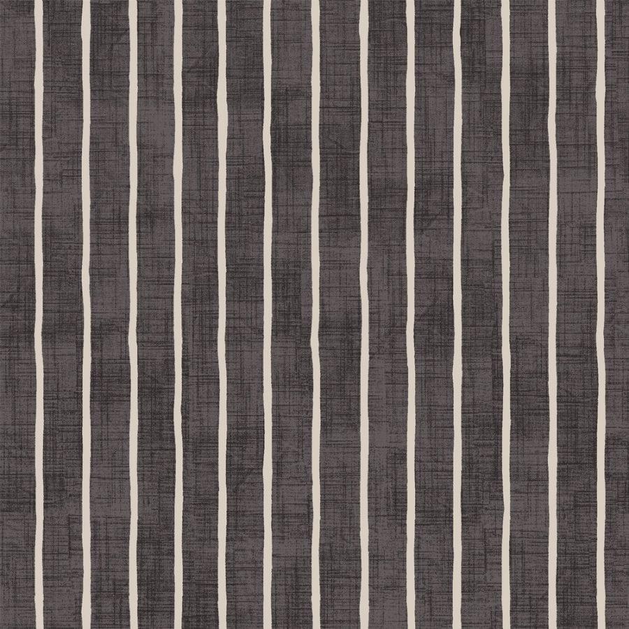 Pencil Stripe - Ebony